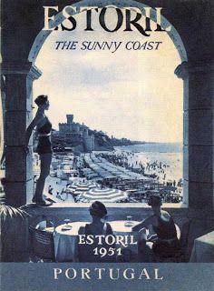 vintage poster, travel, lisbon, lisboa, portugal, costa de reyes
