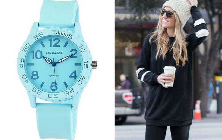 Strapabíró kék óra a sportos hétköznapokra