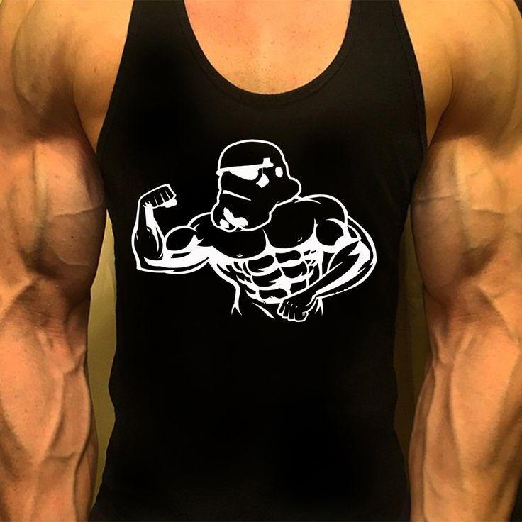 Starwars, Mens Workout, Racerback Tank Top, Bodybuilding Muscle Shirt…