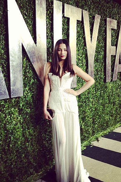 At the Vanity Fair Oscars After Party, wearing J'Aton Couture.