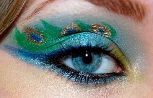 Peacock Wedding Ideas and Supplies: Peacock Eye Makeup