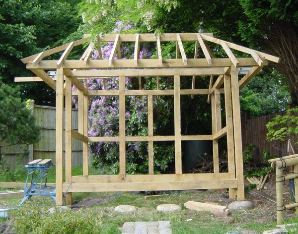 Build A Japanese Tea House Assembling The Roof Back