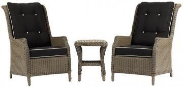 Brighton cove 3 piece high back conversation set lounge for Outdoor furniture joondalup