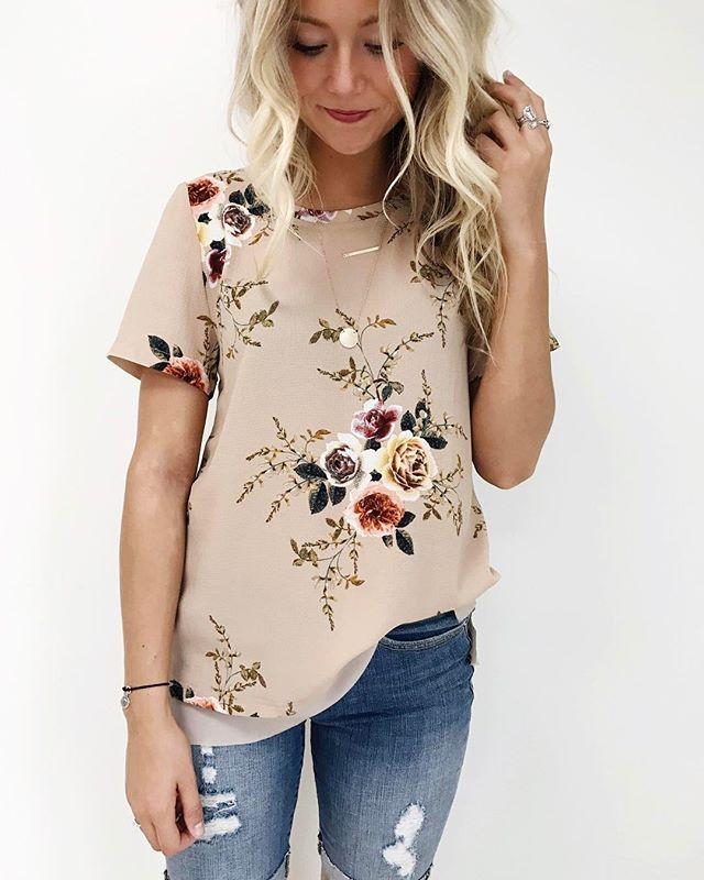 Elsie Floral Top: $29.99