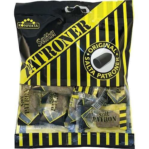 Hard salty licorice candy pieces.
