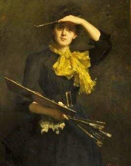 Thérèse Schwartze (Amsterdam artist, 1852-1918) Self Portrait 1888