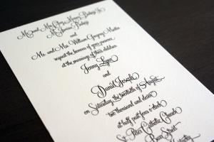 Cardinal and Straw InvitesStraws Invitations