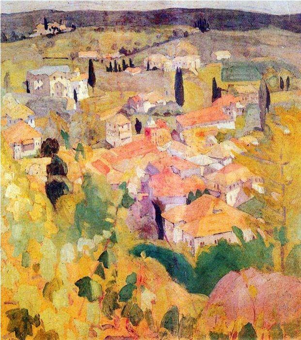 View from Karyes of Mount Athos - Spyros Papaloukas, 1924