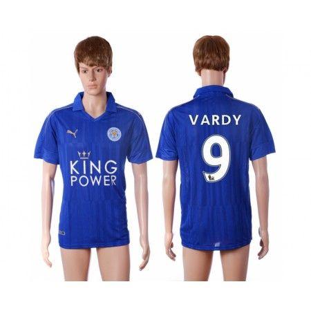 Leicester City 16-17 #Vardy 9 Hjemmebanetrøje Kort ærmer,208,58KR,shirtshopservice@gmail.com