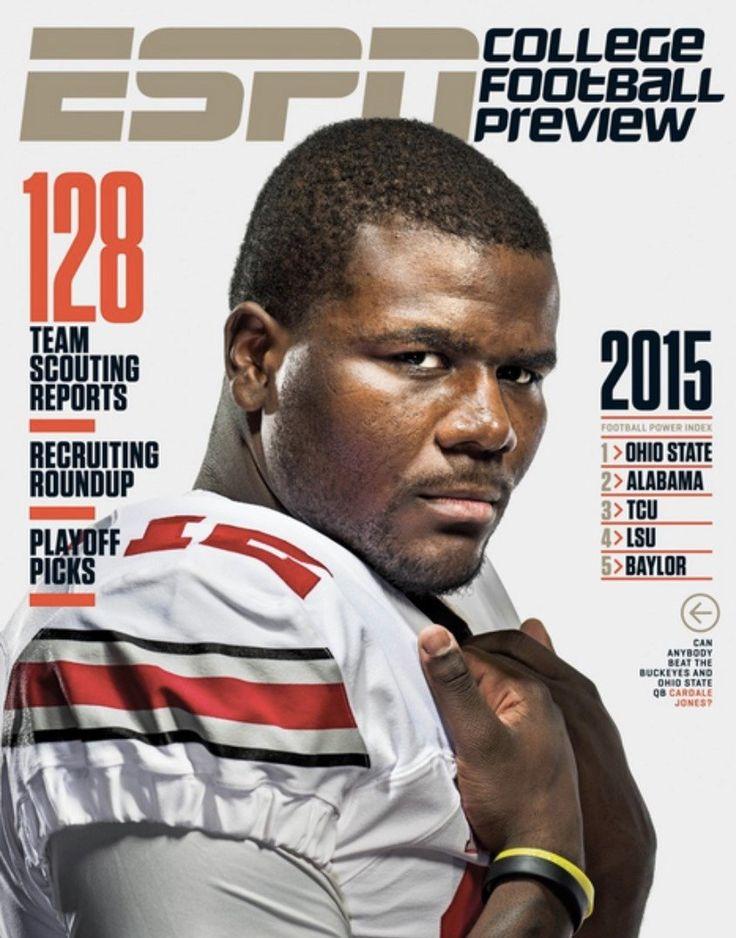 JUNE 2015 ESPN THE MAGAZINE COVER CARDALE JONES #12 QUARTERBACK.