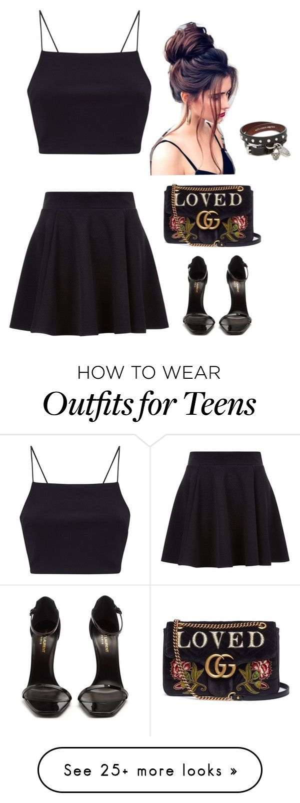 """""""Untitled #290"""" by mentarijae on Polyvore featuring Yves Saint Laurent, Gucci and Alexander McQueen"""