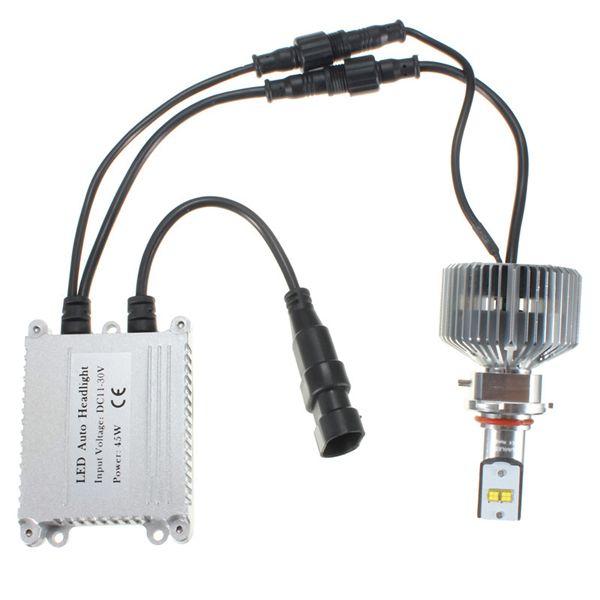 1Pair 90W 9000LM 6000K H4 H7 H11 LED Headlight Bulbs Conversion Kit