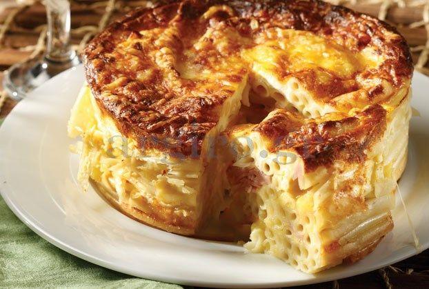 Μακαρονόπιτα µε τυριά