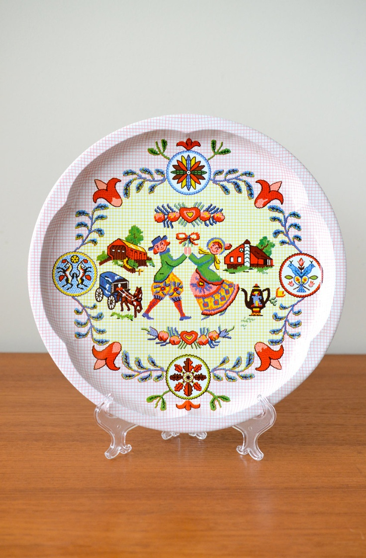 best images about penna dutch hex symbols folk items similar to vintage pennsylvania dutch folk amish tin cookie tray plate hex needlework covered bridge theme perfect for housewarming or wedding on