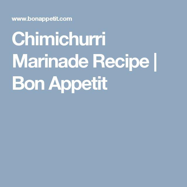 Chimichurri Marinade Recipe | Bon Appetit