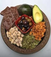 MUFAs-Monounsaturated fats improve heart health, help you lose belly fat and keep your cholesterol down. (Improve Cholesterol Health)