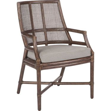 McGuire Furniture: Hayes Dining Arm Chair: M-321g