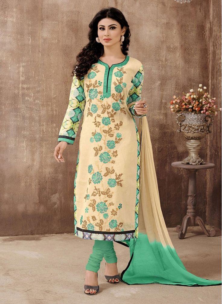 Lovely Mauni Roy Beige Designer Salwar Suit