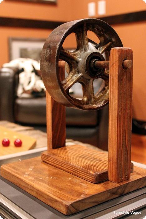 Industrial Wheel decor