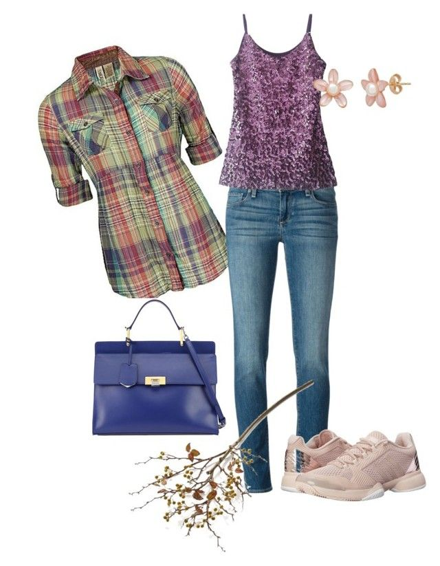 """""""Autumn"""" by kdorisz on Polyvore featuring BKE, Paige Denim, Balenciaga, adidas and Crate and Barrel"""