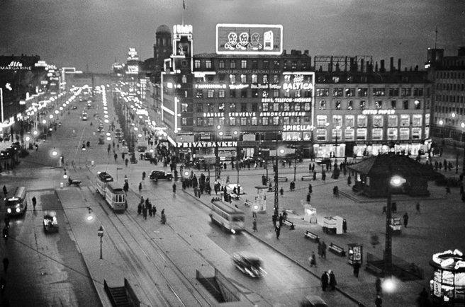 Rådhuspladsen (1930s?) (Copenhagen, København, CPH, Danmark, Danish, Denmark, travel, Europe, city, capital, visit, beautiful)