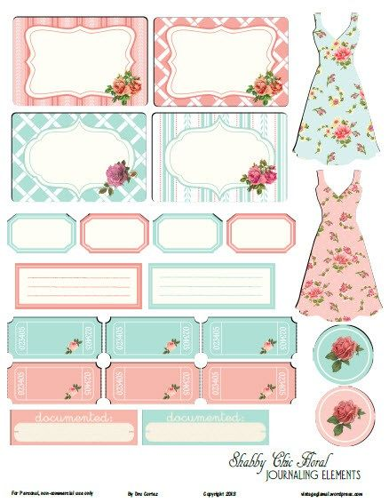 FREE printable tags and journaling elements