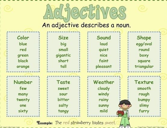 1000 Images About Adjectives On Pinterest Adjectives