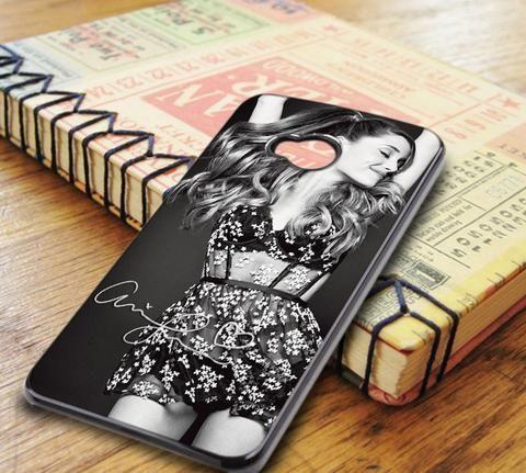 Ariana Grande Signature Black And White HTC One M7 Case
