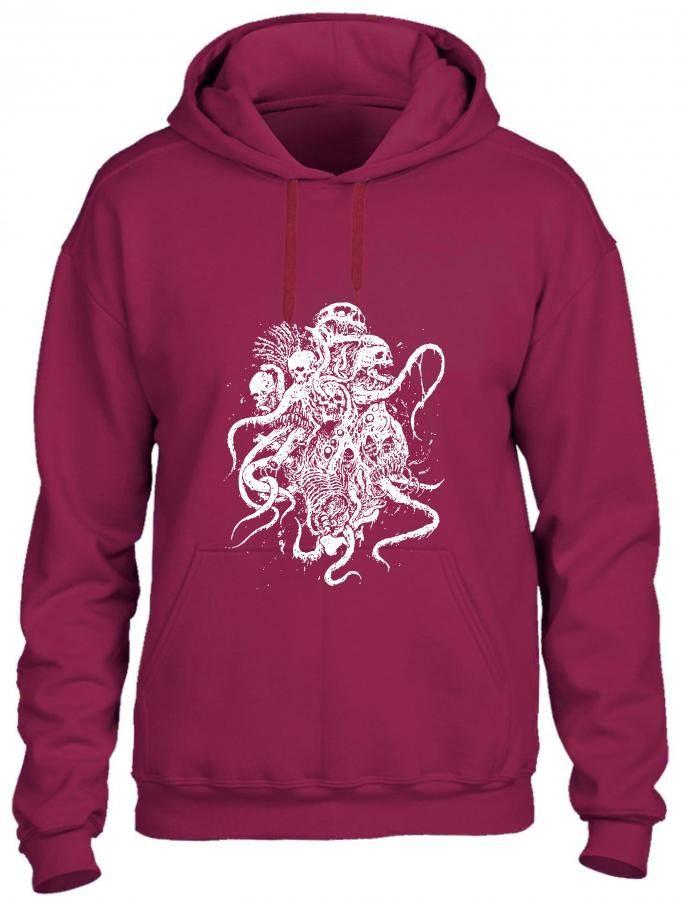 octopus skull death metal Hoodie