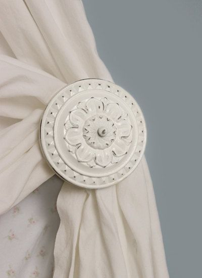Curtain tiebacks Cream Antique White Curtain by TheChicDecorShop, $32.00