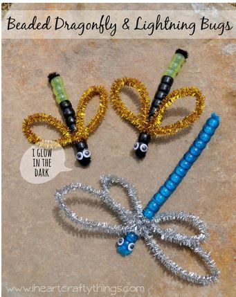 Interdisciplinary Therapy Activity of the Week: Beaded Dragonfly & Lightning Bug Craft - pinned by @PediaStaff – Please Visit ht.ly/63sNt for all our pediatric therapy pins                                                                                                                                                      More
