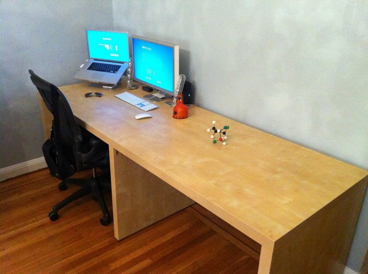 double expedit desk ikea hack ikea hacks pinterest