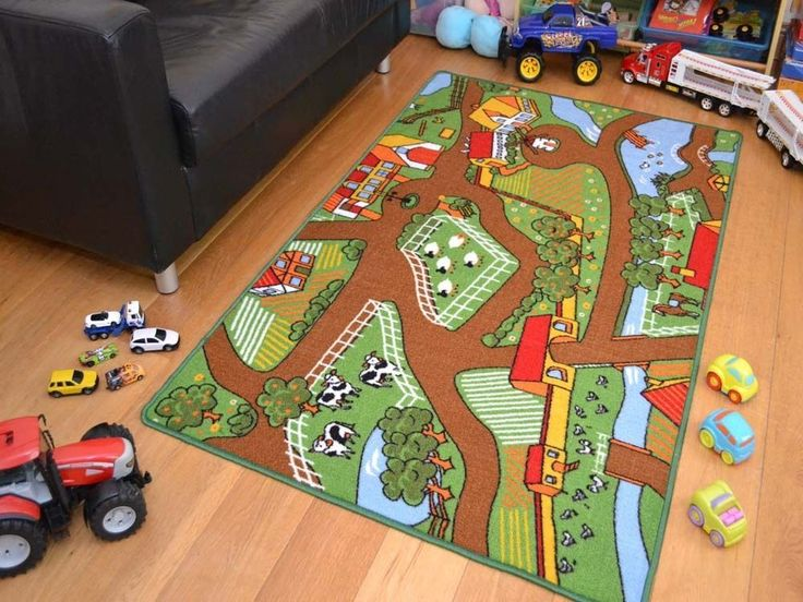 Details About Kids Mat Rug Farm Machine Washable Anti Slip