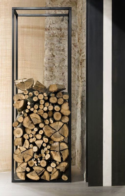A light and transparent design for a storage place for firewood