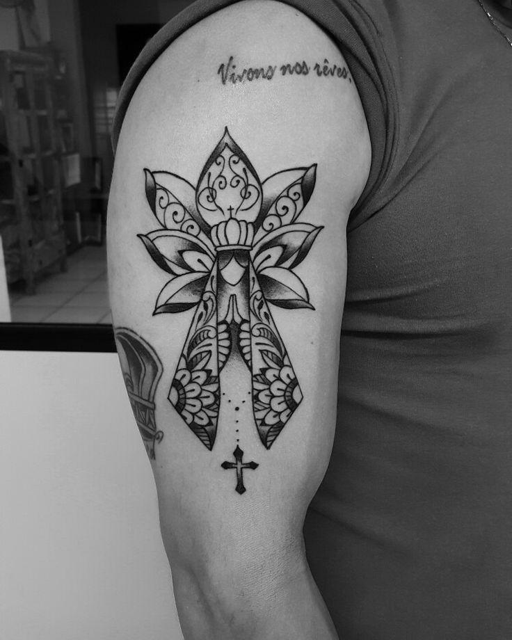 Nossa Senhora Aparecida, edmar Venâncio, old bone tattoo. Tatuape