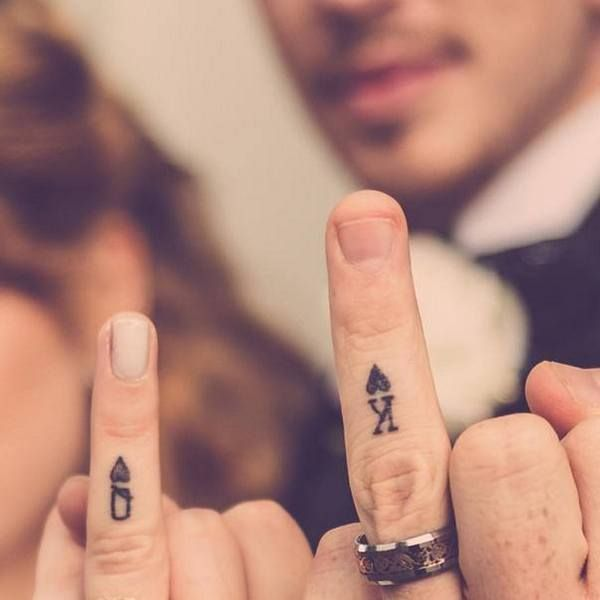 Wedding Ring Tattoos / http://www.himisspuff.com/wedding-band-ring-tattoos/5/