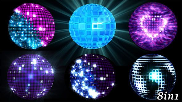 Disco Ball - VJ Loop Pack (8in1) Pack of 8 full HD looped footages for your event, concert, title, presentation, site, DVD, music videos, video art, holiday show, party, etc… Also useful for motion designers, editors and VJ s.