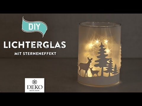 DIY: hübsche Weihnachtsdeko mit Sterneneffekt [How to] Deko Kitchen - YouTube