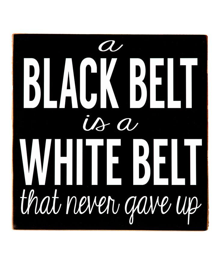 'Black Belt' Wall Sign