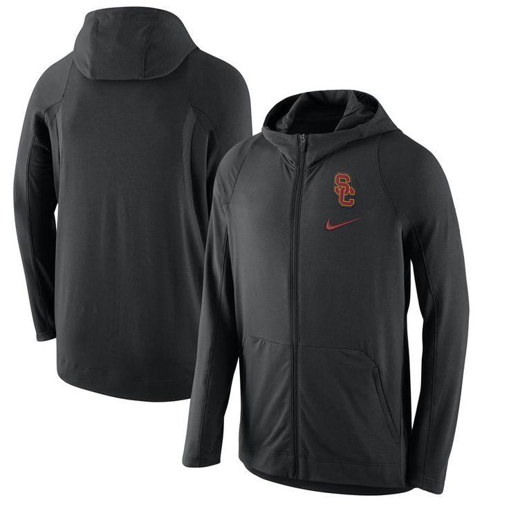 USC Trojans Nike 2016-2017 Basketball Player Hyper Elite Performance Full-Zip Hoodie - Black
