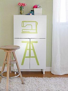 Armario de costura con mueble de Ikea