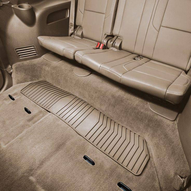 Cadillac Escalade 3rd Row Seats: Escalade Floor Mats, Premium All Weather, Third Row, Dune:This Premium All-Weather Rear Floor