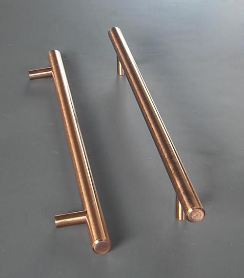 Hans Kristof Modern Long Copper Finish Kitchen Cabinet Handle Pull Bar