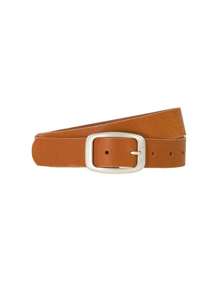 Bruine riem van 3 cm breedte. Voorzien van een rechthoekige gesp. #Missetam