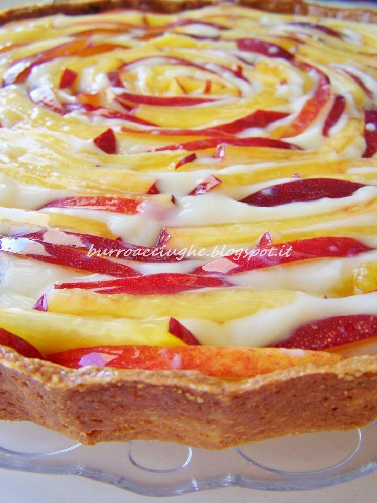 Crostata di pesche e cioccolato bianco #peach #whitechocolate #tart #summer