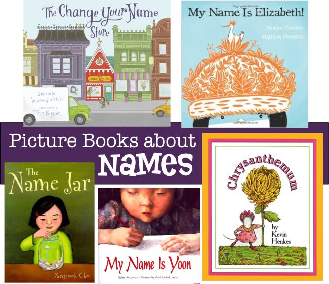 #Picturebooks about #names. What else besides CHRYSANTHEMUM? #books #kidlit #diversity #selfacceptance #classroom