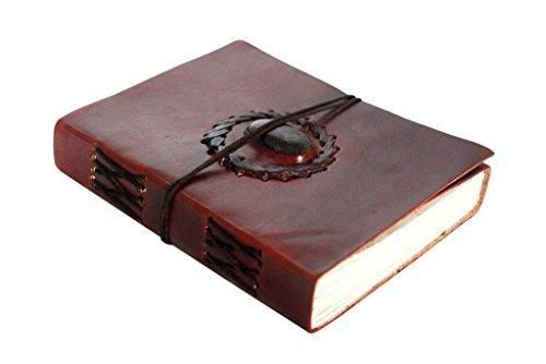 Rustic Town Handmade Vintage Antique Looking Genuine Leather Journal Diary Notebook Gift for Men Women Him Her