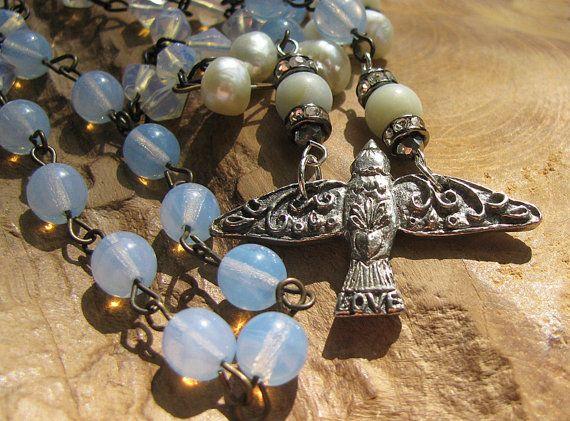 Metalli misti a catena artigianale uccello amore di BejeweledSoul