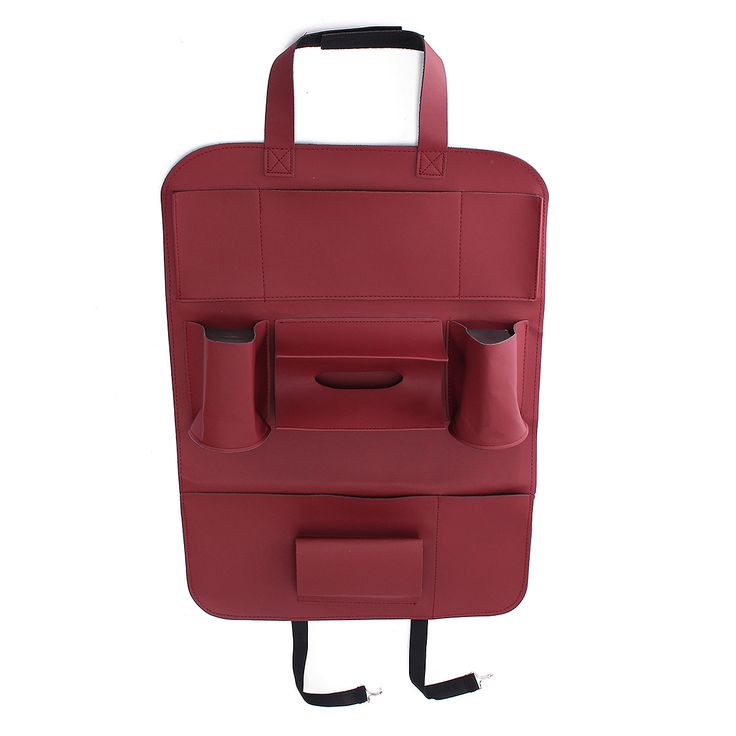 Car Backseat Multi-Pocket Phone Cup holder PU Leather Seat Organizer Vehicle Auto Seat Storage Bag