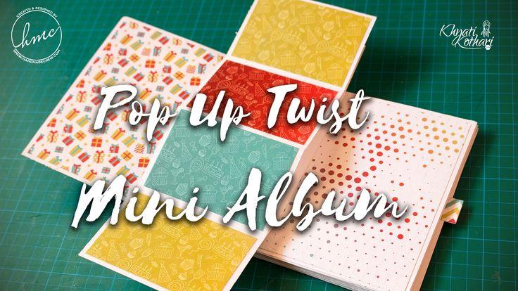 Popup and Twist card mini album - start to finish DIY tutorial